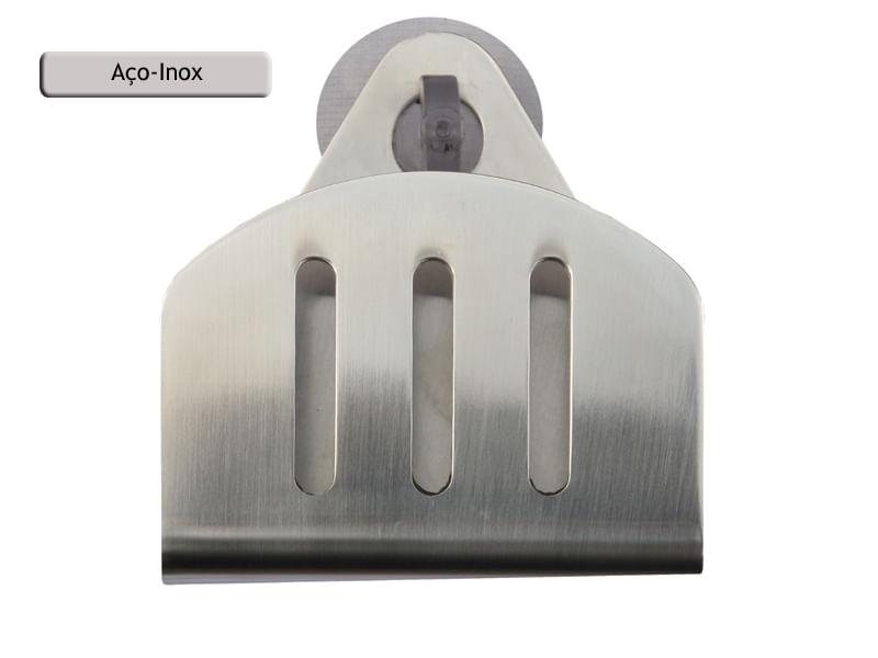 Porta Esponja de inox com ventosa - redondo