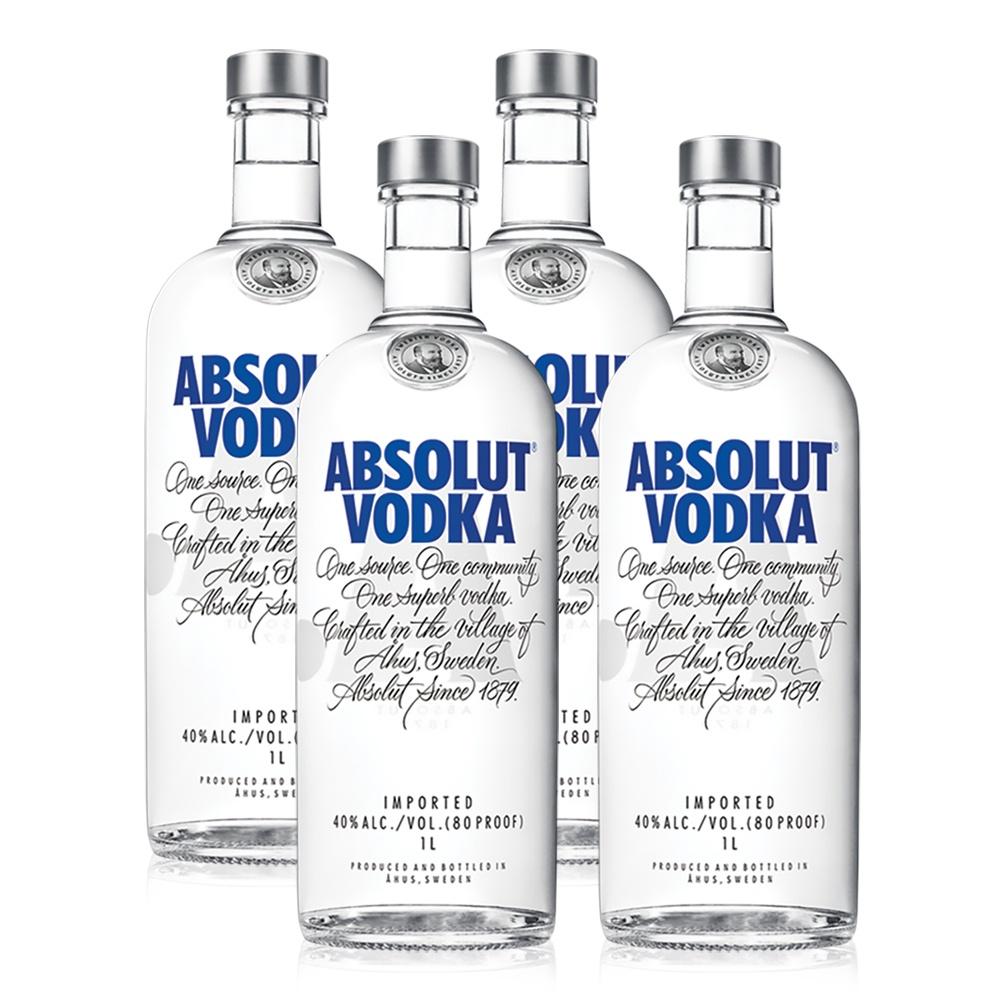 Kit Vodka Absolut Original 1L - 4 Unidades