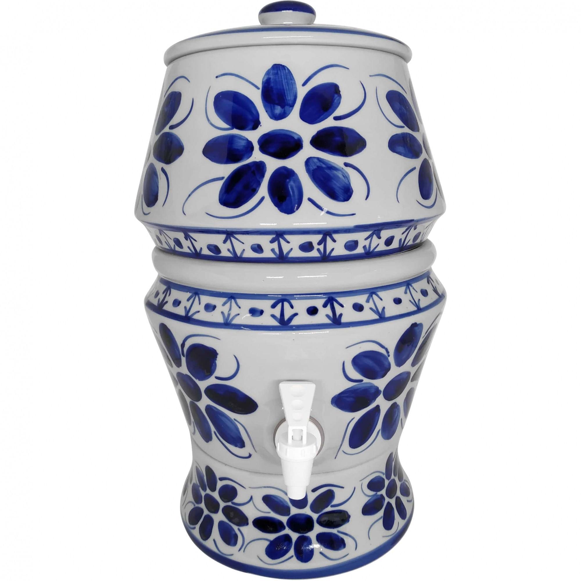 Filtro de Porcelana para agua, 8 litros, Pintado à mão