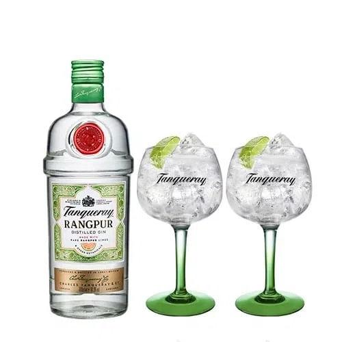 Combo Gin Tanqueray Rangpur 750Ml + 2 Taças Tanqueray Importadas