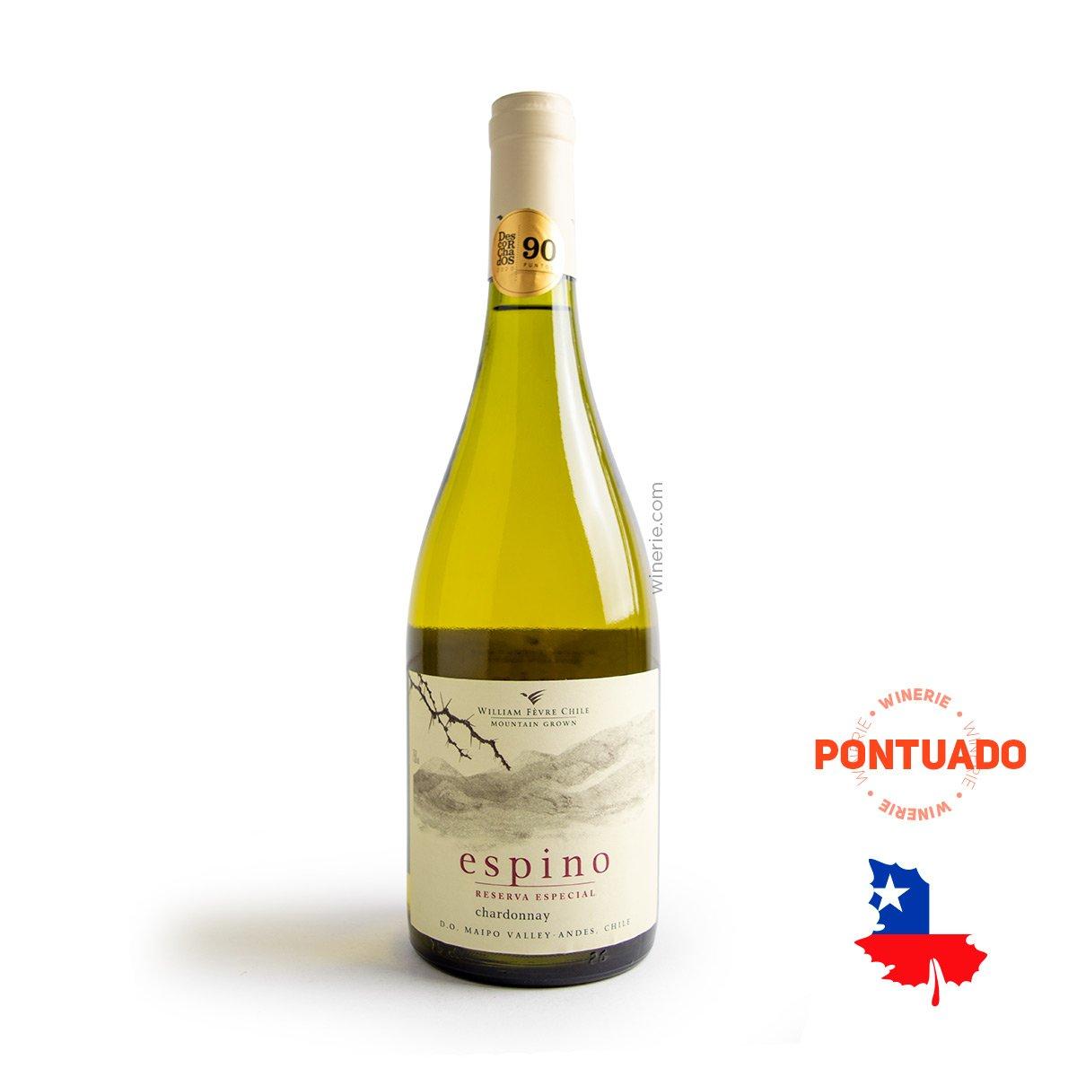 Vinho Chileno Espino Chardonnay D.O. 2019 750ml